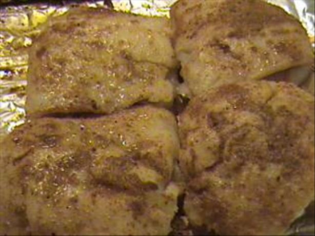 Spiced Cod Fillet on the Grill
