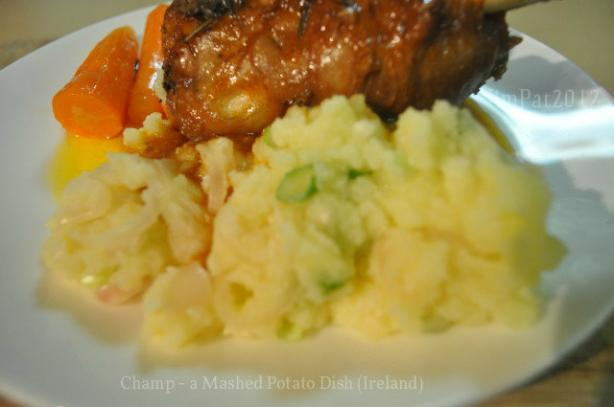 Champ -- a Mashed Potato Dish (Ireland)