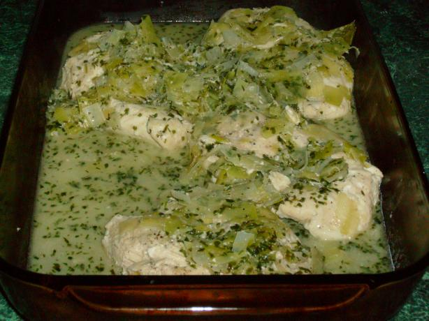 Jerry Traunfeld's Tarragon Chicken Breast With Buttery Leeks