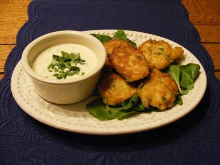 Chickpea Fritters With Hot Pepper Mayonnaise