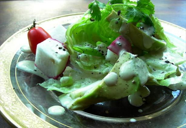 Avocado Salad With Cumin Lime Mayo Dressing