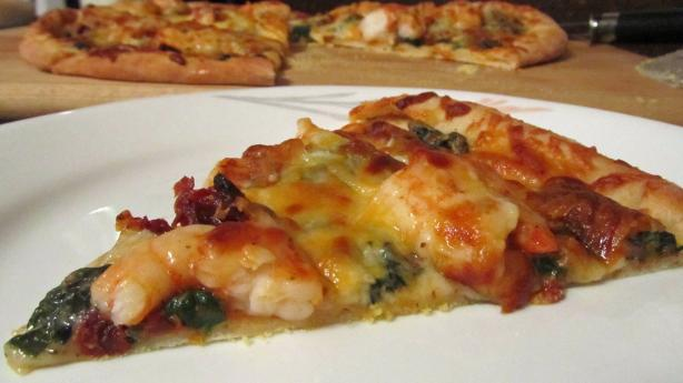 All American Ranch Spinach Shrimp Pizza #RSC