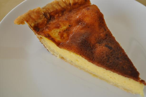Old-Fashioned Baked Egg Custard Tart With Nutmeg