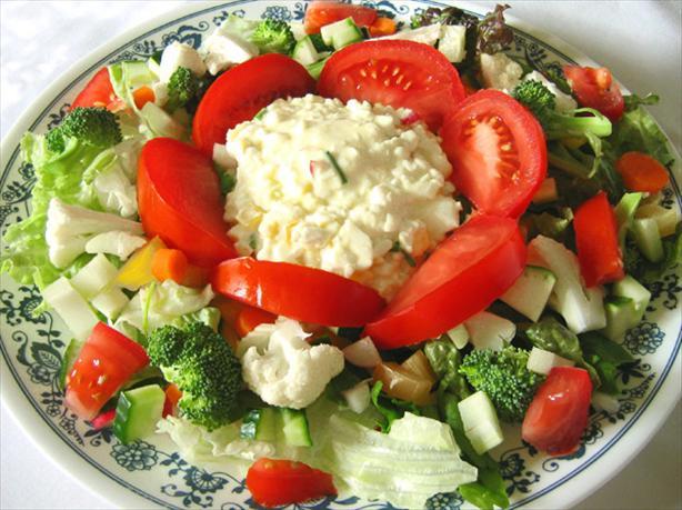 """Lettuce Salad With Egg Salad """" Dressing"""""""
