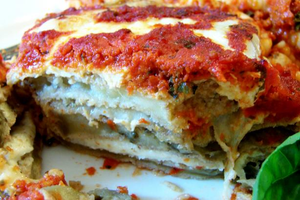 Oven Fried Eggplant or and Zucchini Parmesan