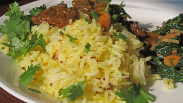 Nimbu Ka Chaval (Saffron Rice With Lime)