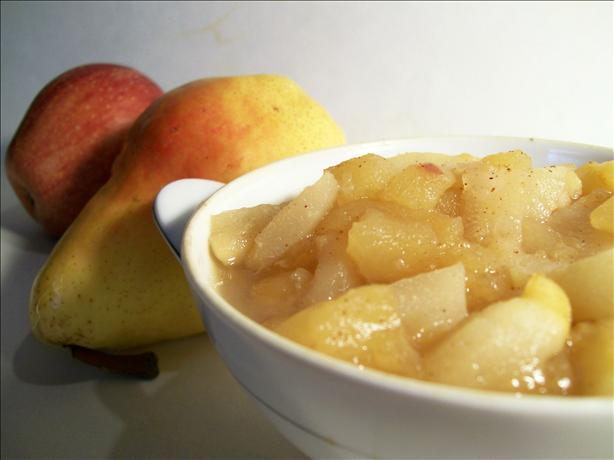 Chunky Pear and Applesauce