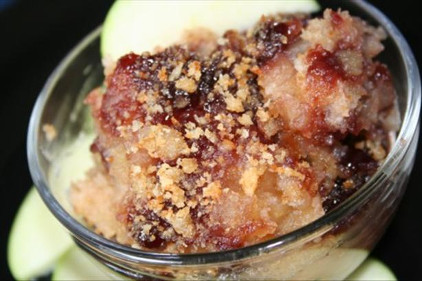 Danish Applesauce Breadcrumb Pudding