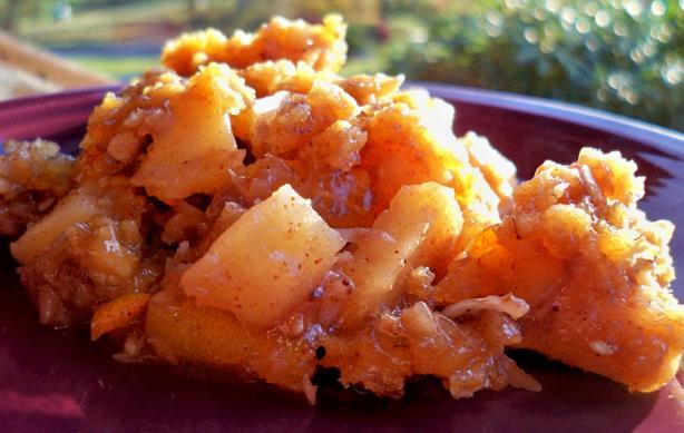 Crock Pot Tropical Apple Crisp
