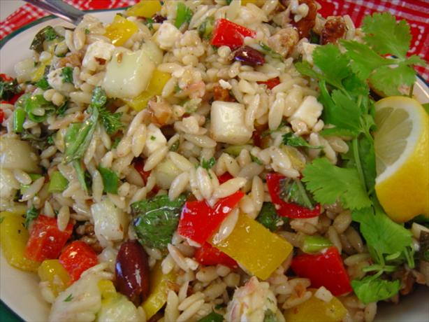Macrina's Orzo Salad With Cucumber, Bell Pepper, Basil and Feta