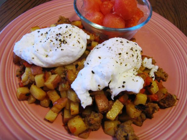 Farmhouse Hash With Poached Eggs