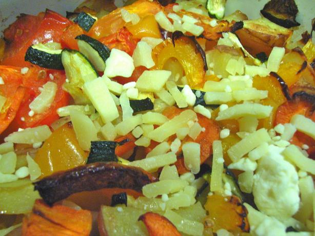 Roasted Veggie and Bocconcini Salad