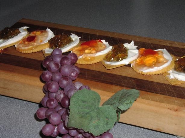 Crackers, Cream Cheese, and Pepper Jelly