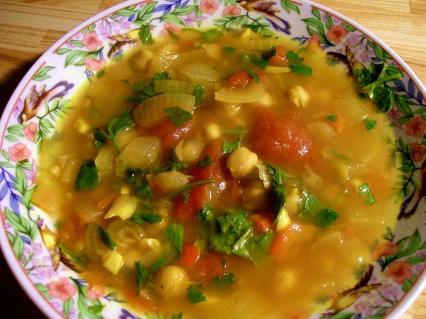 Hasa Al Hummus -- Moroccan Chickpea Soup