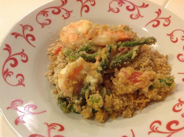 Crunchy Topped Prawn & Asparagus Bake