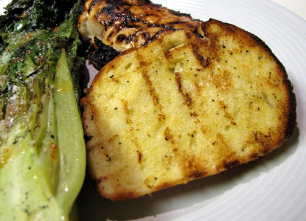 Lemony French Bread, Grilled