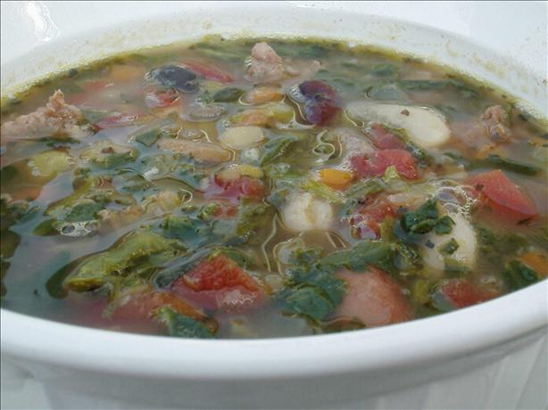 Italian Mixed Bean Soup