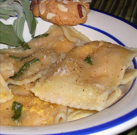 Pumpkin Ravioli With Sage Butter Sauce