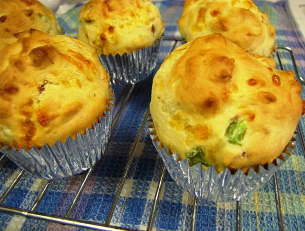 Ham and Cheese Buttermilk Muffins