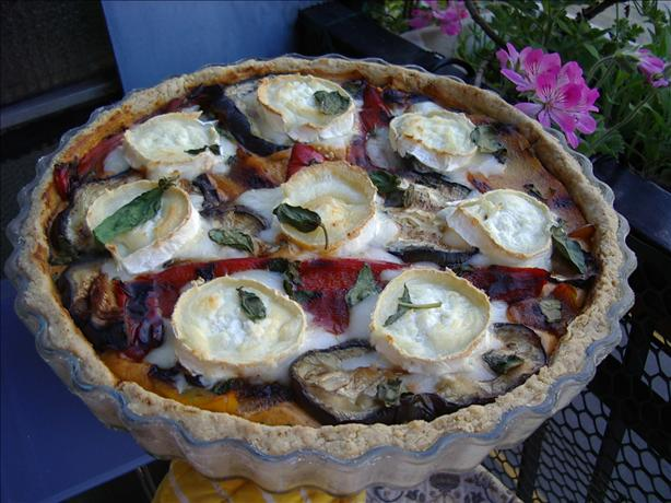 Roast Vegetable Tart with Walnut Crust
