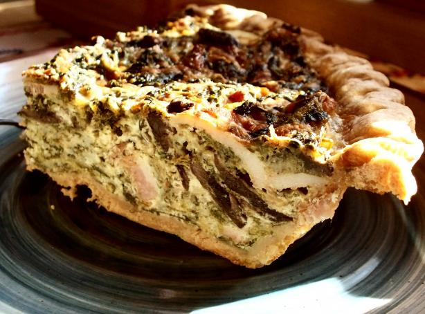 Amazing Spinach Bacon Quiche