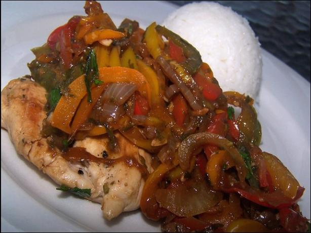Chicken With Sweet Peppers and Balsamic Vinegar
