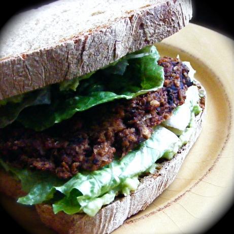 Olive Lentil Burgers