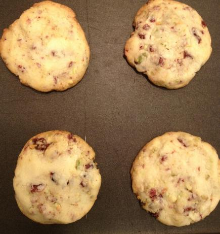Cranberry Lime Pistachio Shortbread Cookies