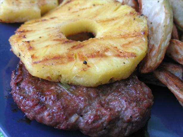 Hawaiian Hamburgers With Grilled Pineapple