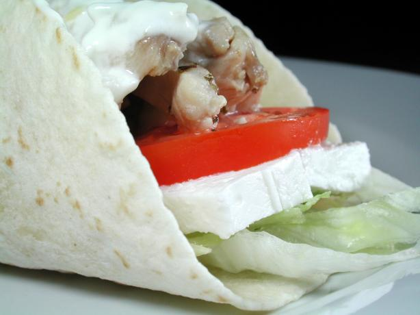 Chicken Souvlaki Wrap