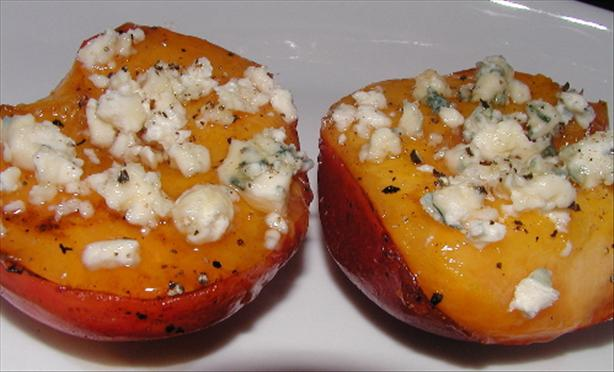 Grilled Nectarines With Bleu Cheese, Honey and Black Pepper