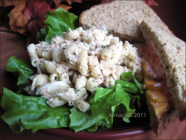 "Macaroni and Tuna Salad - No ""crunchies"""
