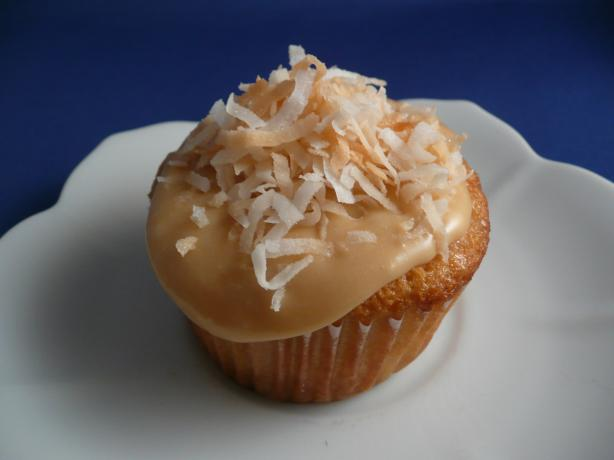 Tres Leches Coconut Cupcakes With Dulce De Leche Buttercream