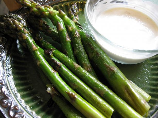 Asparagus With Lemon-Caper Dipping Sauce