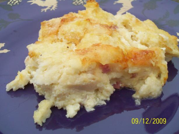 English Muffin and Ham Strata
