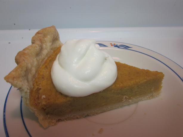 Pumpkin Pie, Using Milk and Fresh Pumpkin