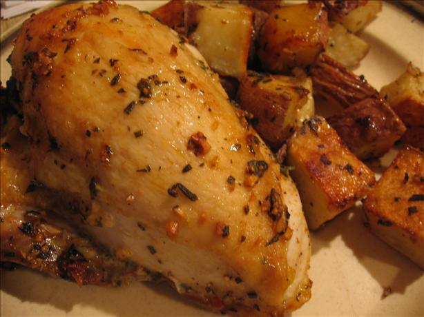 My Famous Rosemary Garlic Chicken and Potatoes