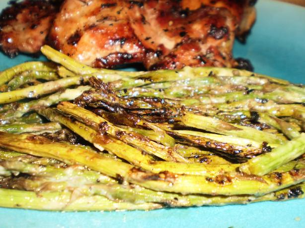 Mustard and Mayonnaise Glazed Asparagus (Grilled)