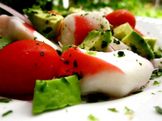 Imitation Crab (Surimi) and Avocado Salad