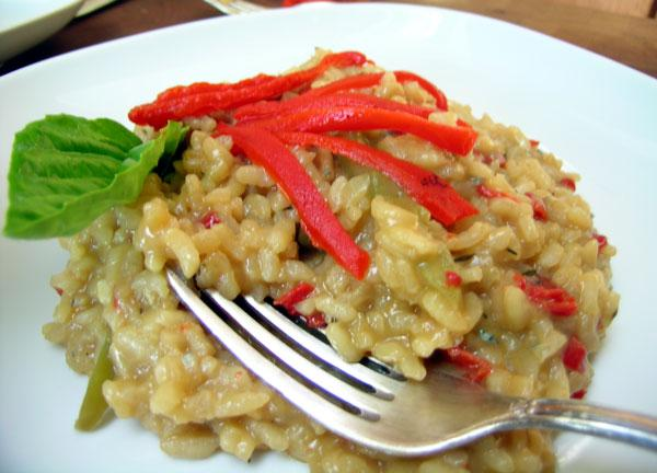 Risotto With Peppers and Gorgonzola
