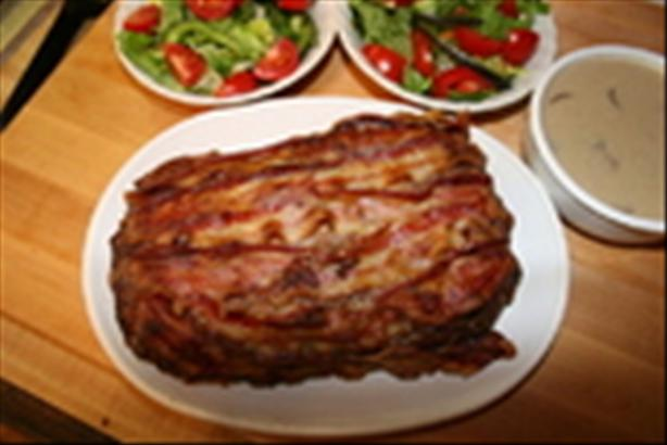 Hearty Country Meatloaf with Sour Cream Gravy