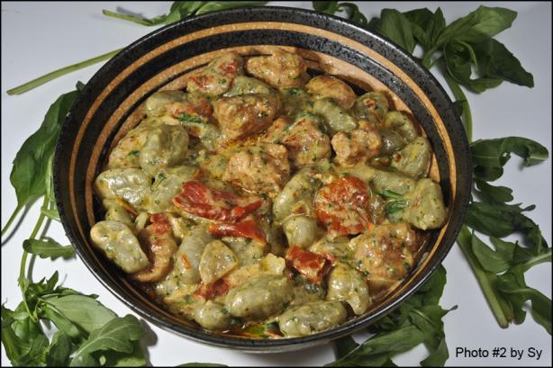 Gnocchi Con Salsicce, Rucola E Pomodoro Secc