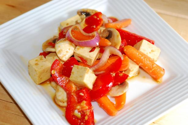 Tofu Salad - Easy Vegan - Make Ahead (Moosewood)