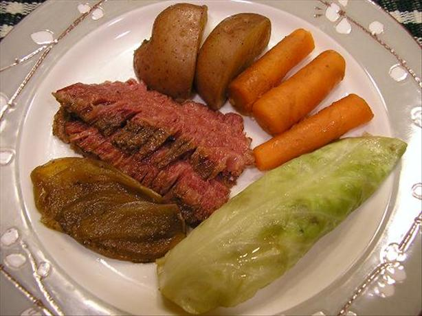 Corned Beef and Cabbage in Guinness