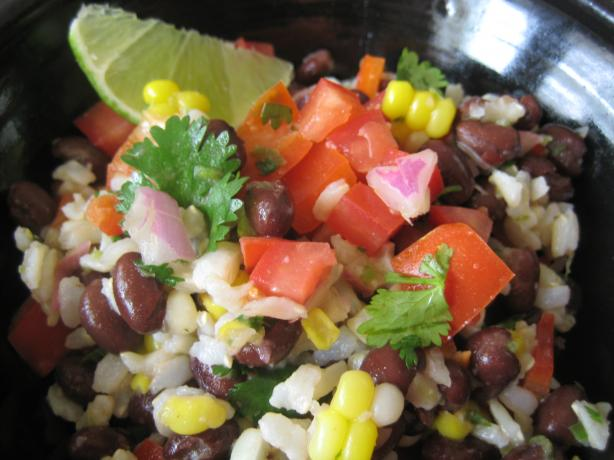 Baja Black Beans, Corn and Rice