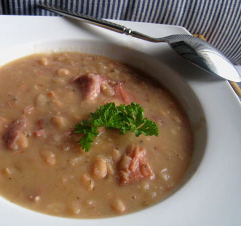 Chunky Navy Bean Soup