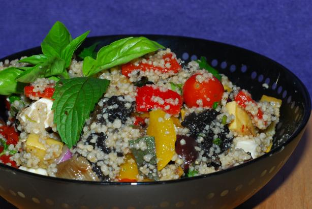 Minted Couscous With Roasted Vegetables