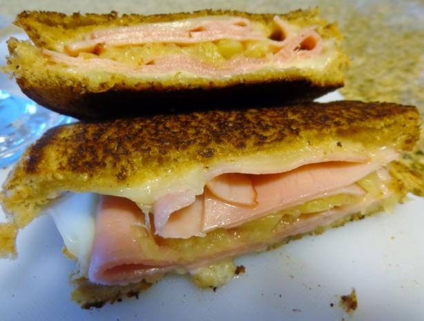 Grilled Ham, Pineapple and Swiss Sandwich
