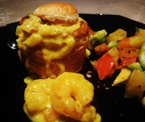 Vol-Au-Vent of Louisiana seafood