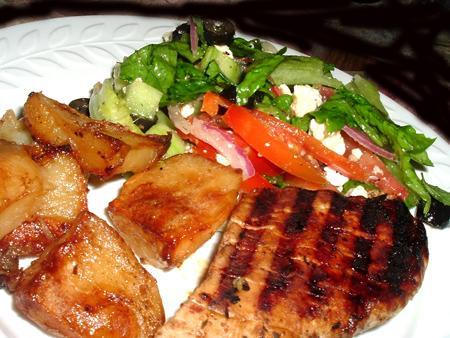 Grilled Greek Pork Tenderloin